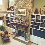 A Stone Fireplace